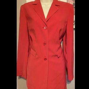 Caslon Red Blazer Jacket Fully Lined